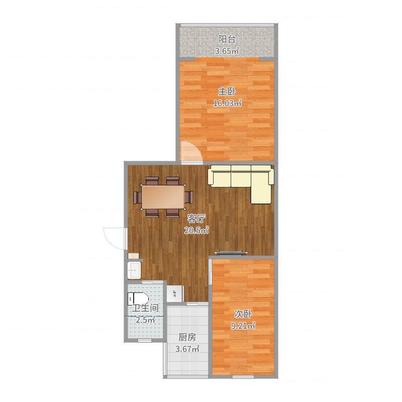 客厅大空间户型图