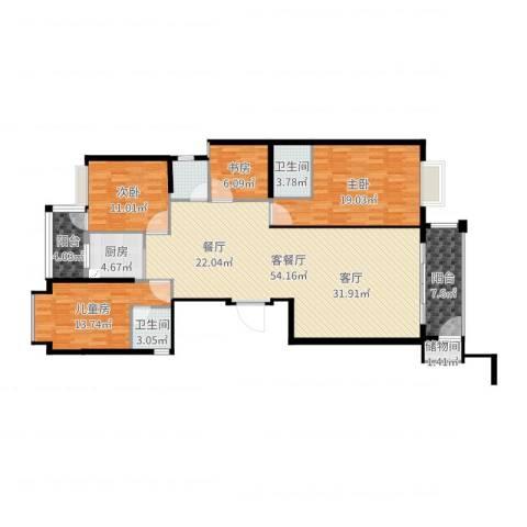 金丰花园4室2厅2卫1厨159.00㎡户型图