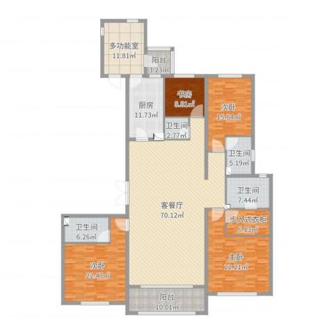 万达海公馆4室2厅4卫1厨255.00㎡户型图