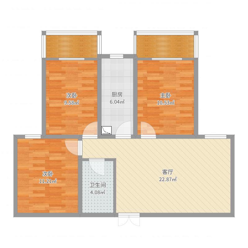 文博苑11-2-2502户型图