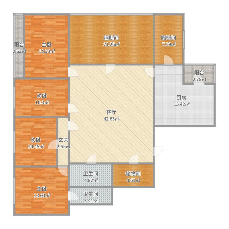 火瓦巷26-3号9幢401室户型图
