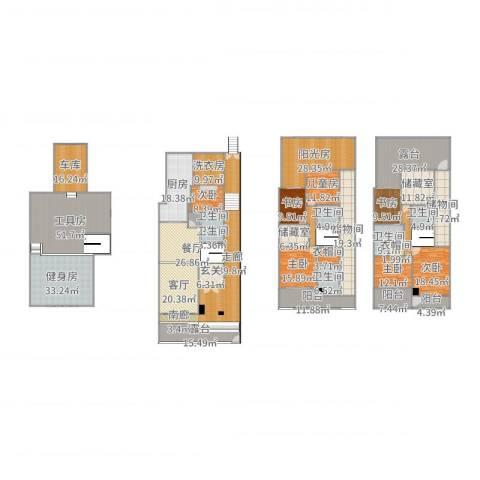 太湖纯水岸别墅7室2厅9卫1厨625.00㎡户型图