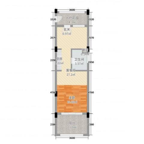 洱海传奇别墅2厅1卫0厨53.00㎡户型图