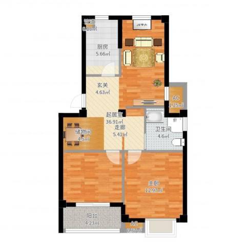 伊顿华府1室0厅1卫1厨83.00㎡户型图