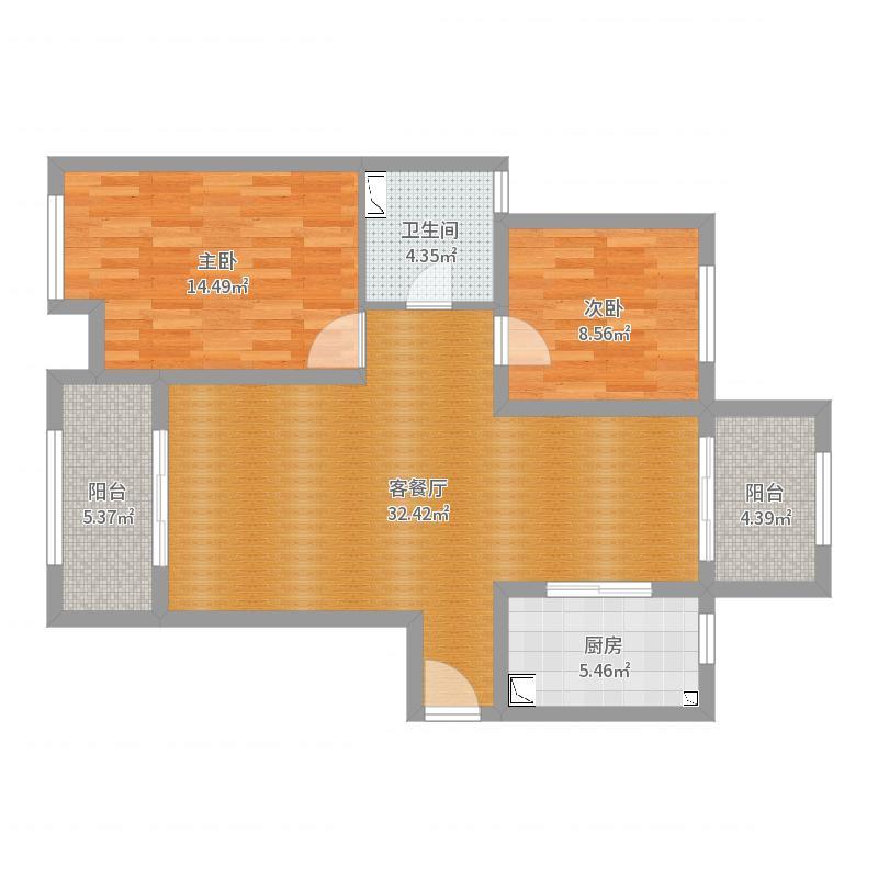 世贸东外滩6栋303户型图