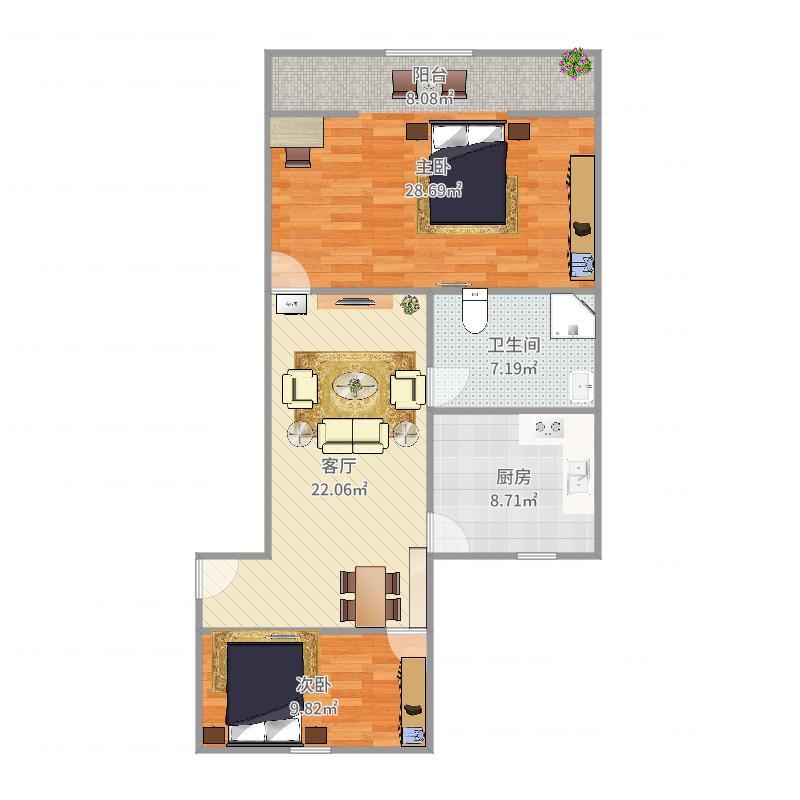 闸北-保德路1010弄小区-设计方案-副本户型图