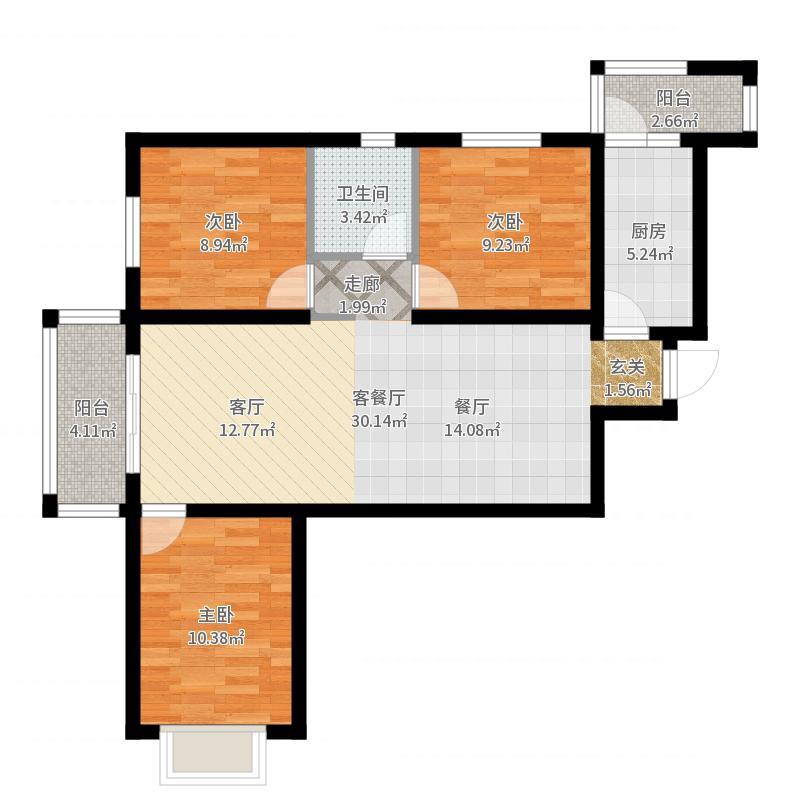 大连_恒大御景湾105_2017-05-27-1211户型图