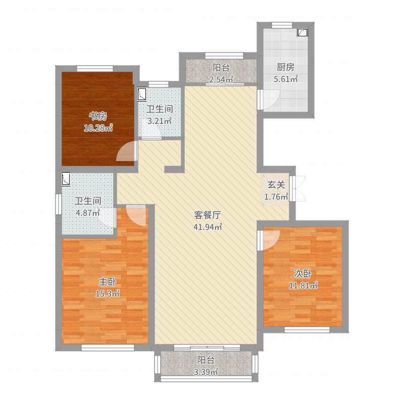 永昌・雍锦台8-1-202张,橱柜户型图