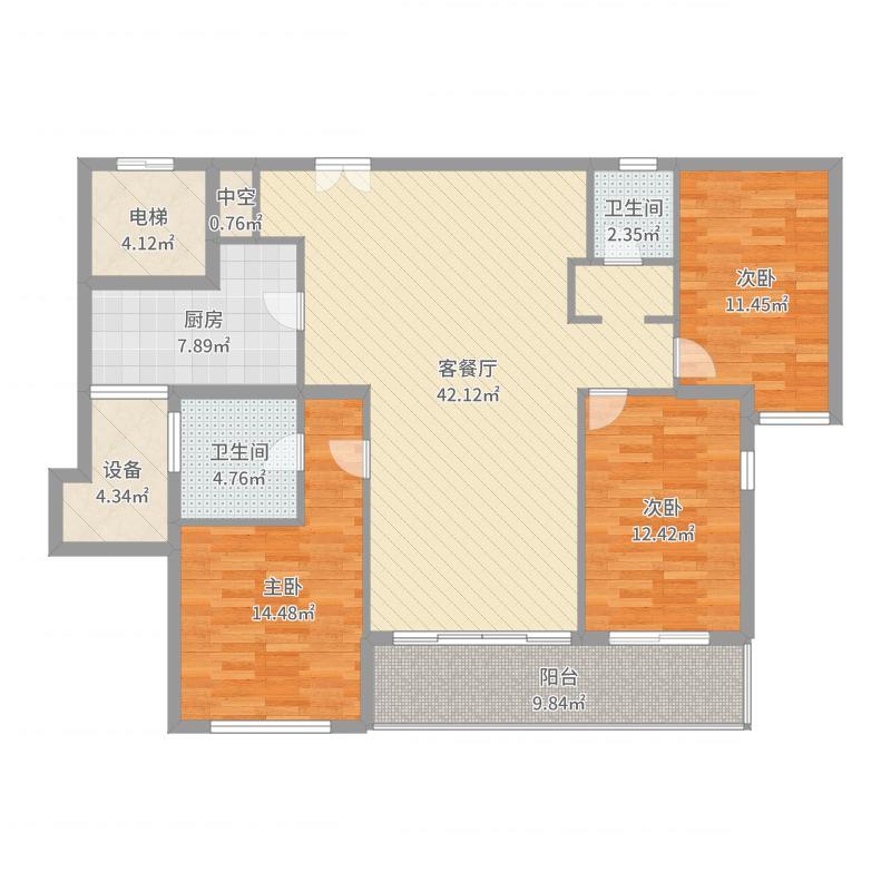 无锡世界贸易中心一期世贸公寓户型图