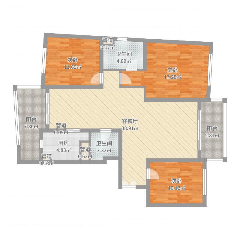 上海_陆家嘴中央公寓_2017-05-27-1733户型图