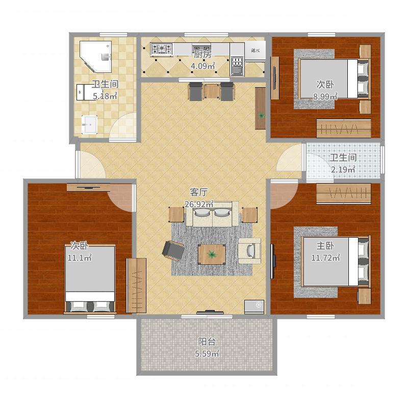 江中公寓户型图