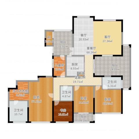 山水名家2室2厅3卫1厨288.00㎡户型图