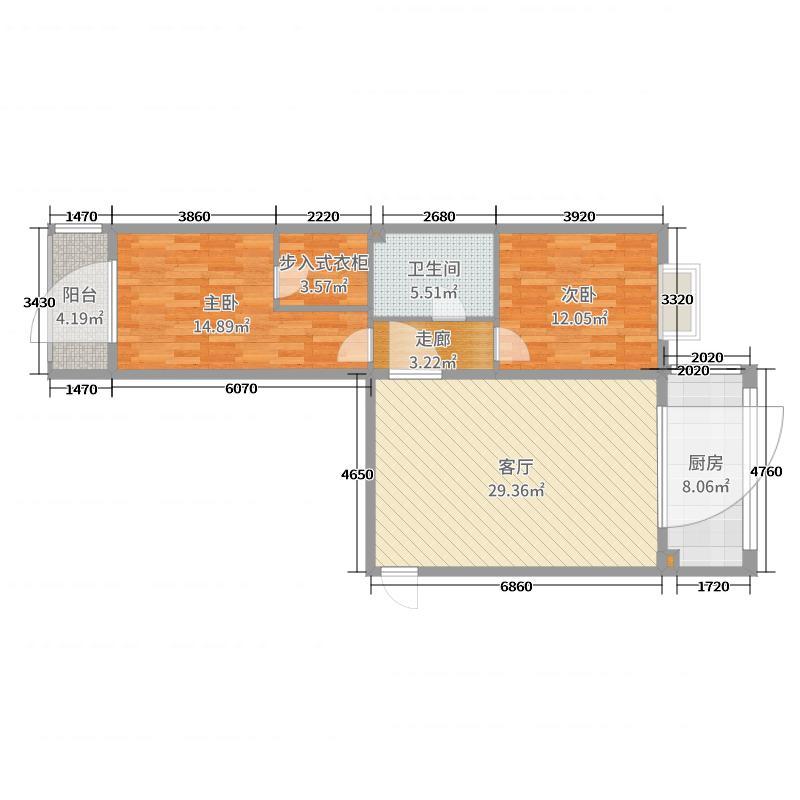 龙海大厦二单元2704户型图