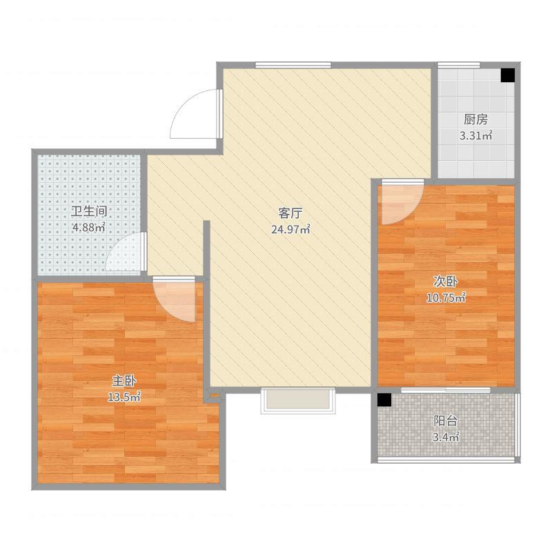 飞宇南区8-1-19顶层,书桌户型图