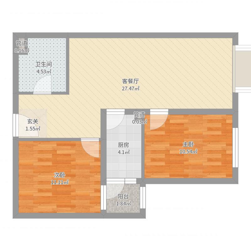东洲家园-B反梦静海洋户型图