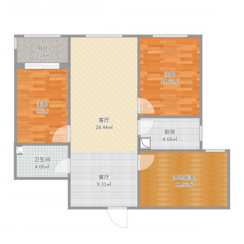 惠东13-2-402户型图