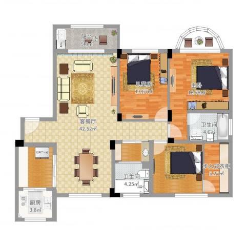 宝岛花园2室2厅2卫1厨145.00㎡户型图
