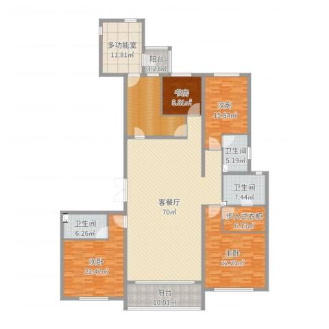 万达海公馆4室2厅3卫0厨255.00㎡户型图