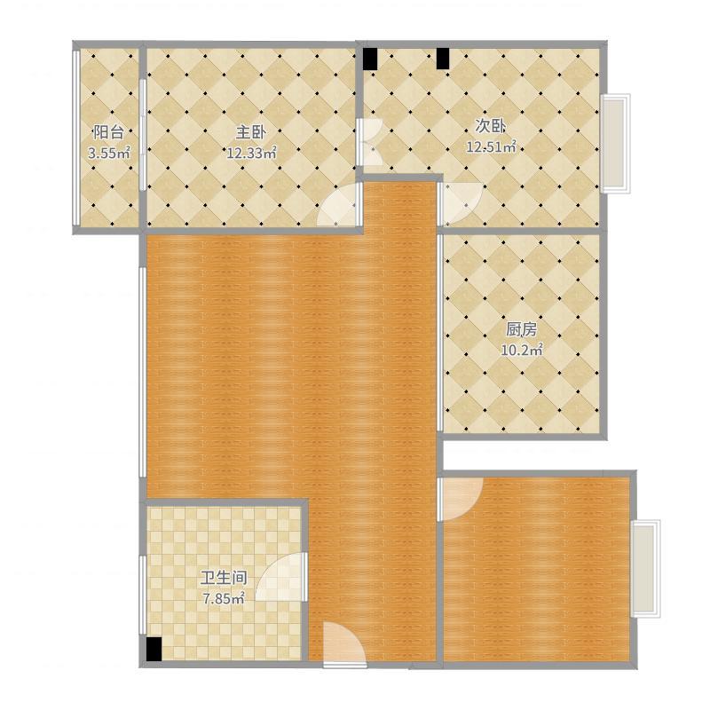 香江城8-2户型图