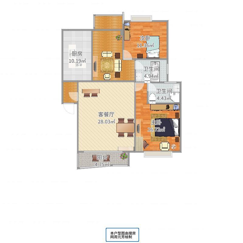 曹江公寓户型图