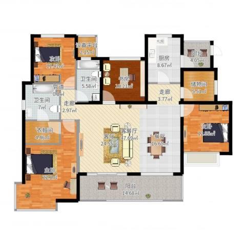 富力十号4室2厅2卫1厨196.00㎡户型图
