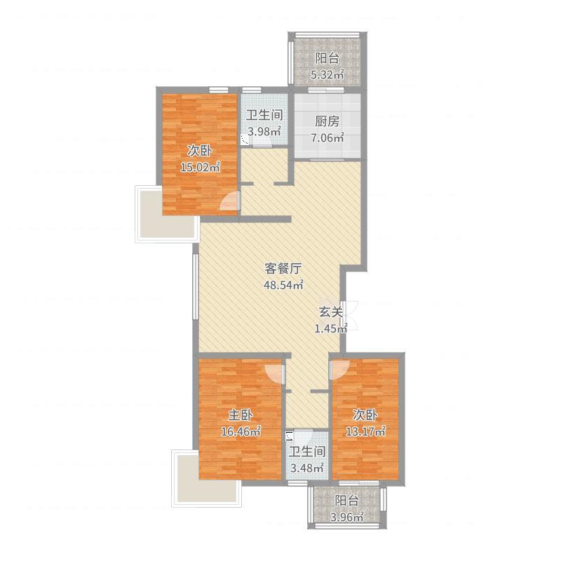 邯郸_华信山水文苑二期2-2-502户型图