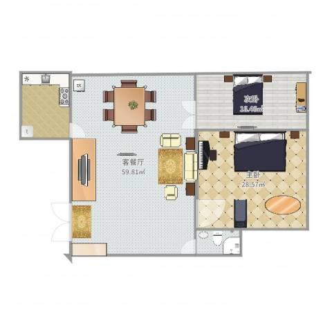联盛九江快乐城2室2厅0卫0厨145.00㎡户型图