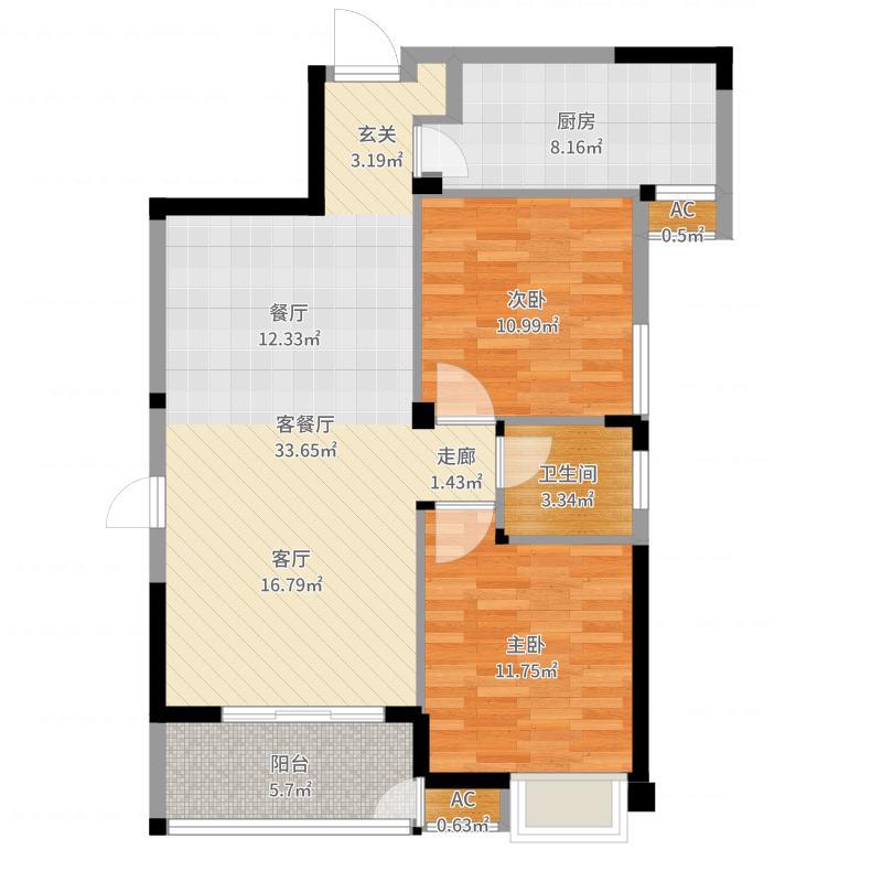 青枫林语户型图