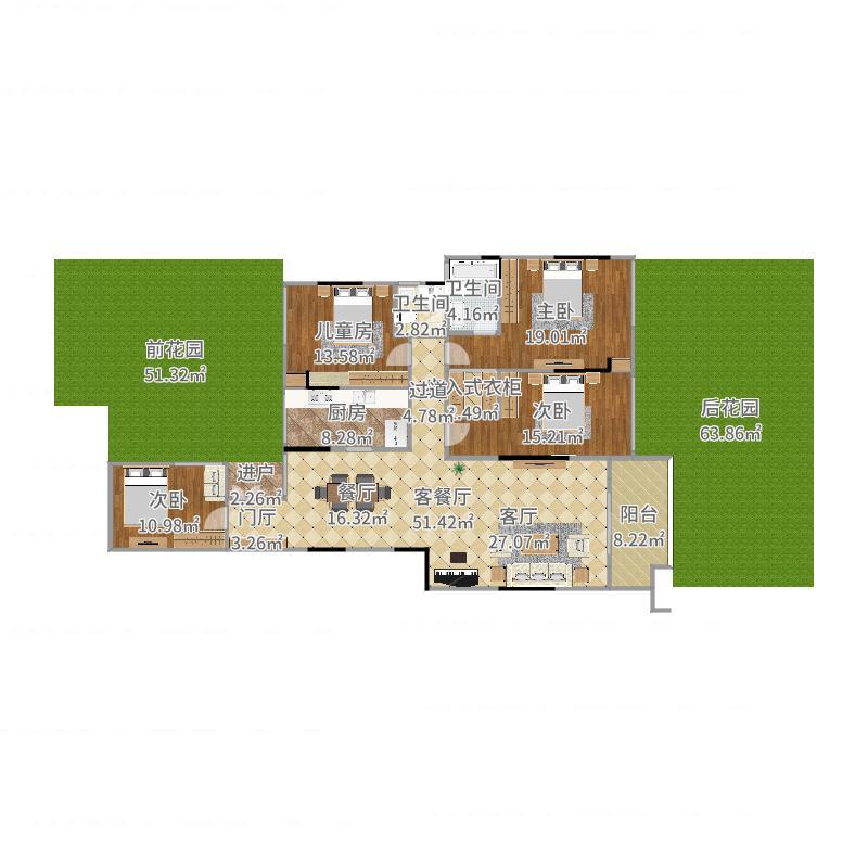 首地江山赋一楼-新-最大面积户型图