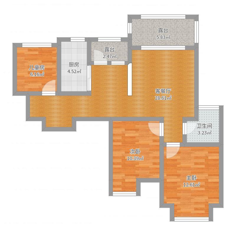 爱琴海c户型-0529户型图