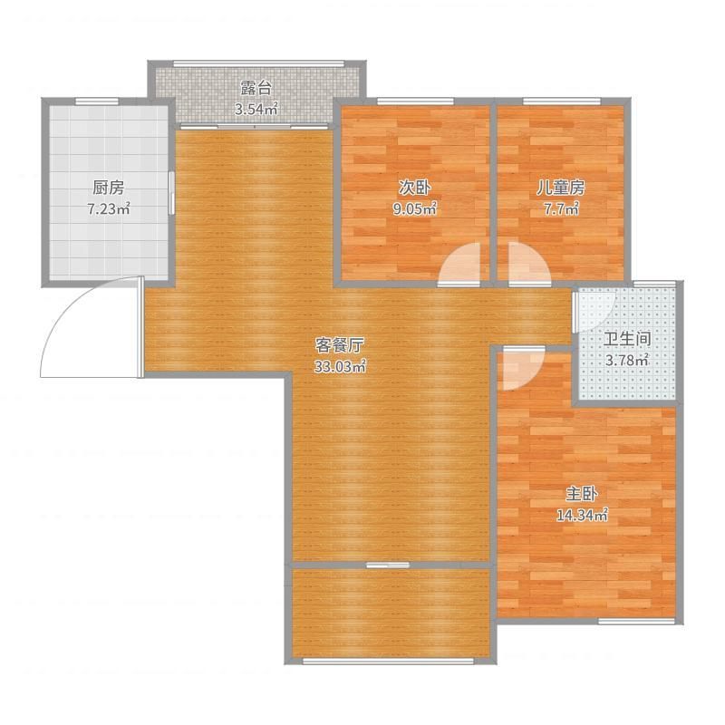 翡翠华庭106米---JCF户型图