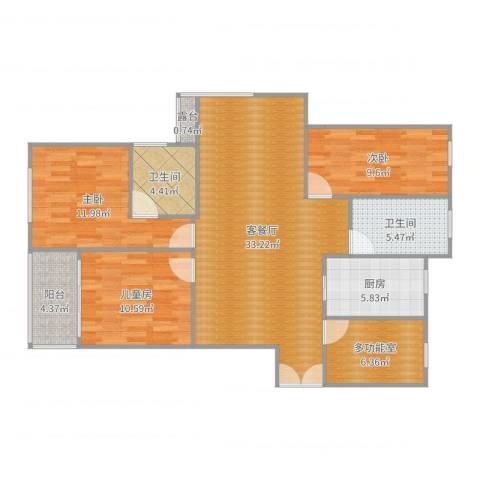 中凯银杏湖7#6053室2厅2卫1厨116.00㎡户型图