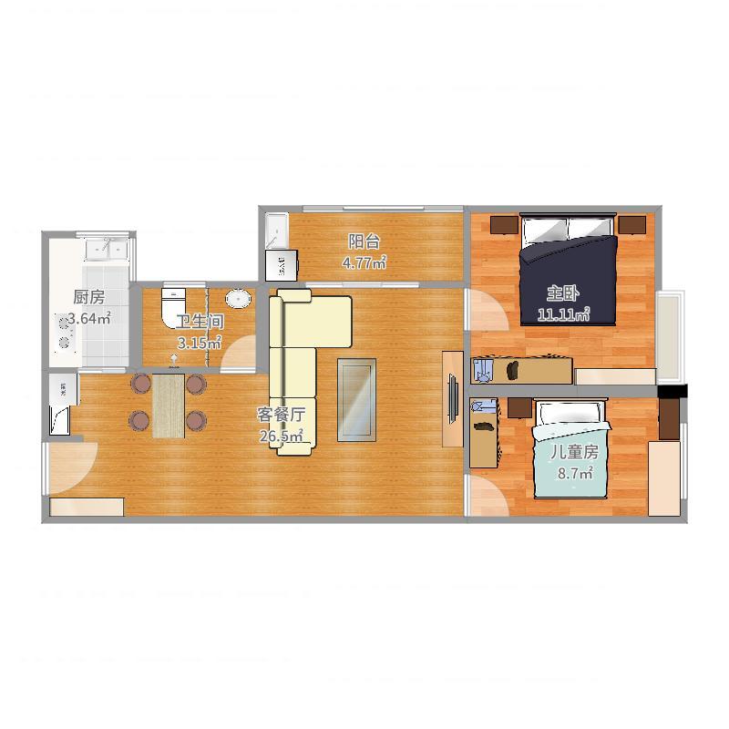中央王府8号楼30-675.55平方-副本户型图