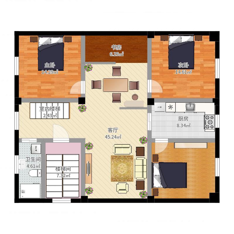 天津市-天津雅颂居-设计方案户型图
