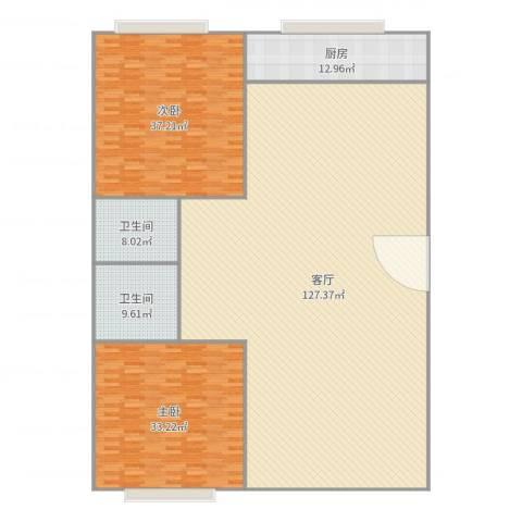 开元山庄2室1厅2卫1厨285.00㎡户型图
