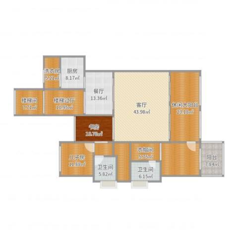 中航城洋房跃层1室2厅2卫1厨229.00㎡户型图