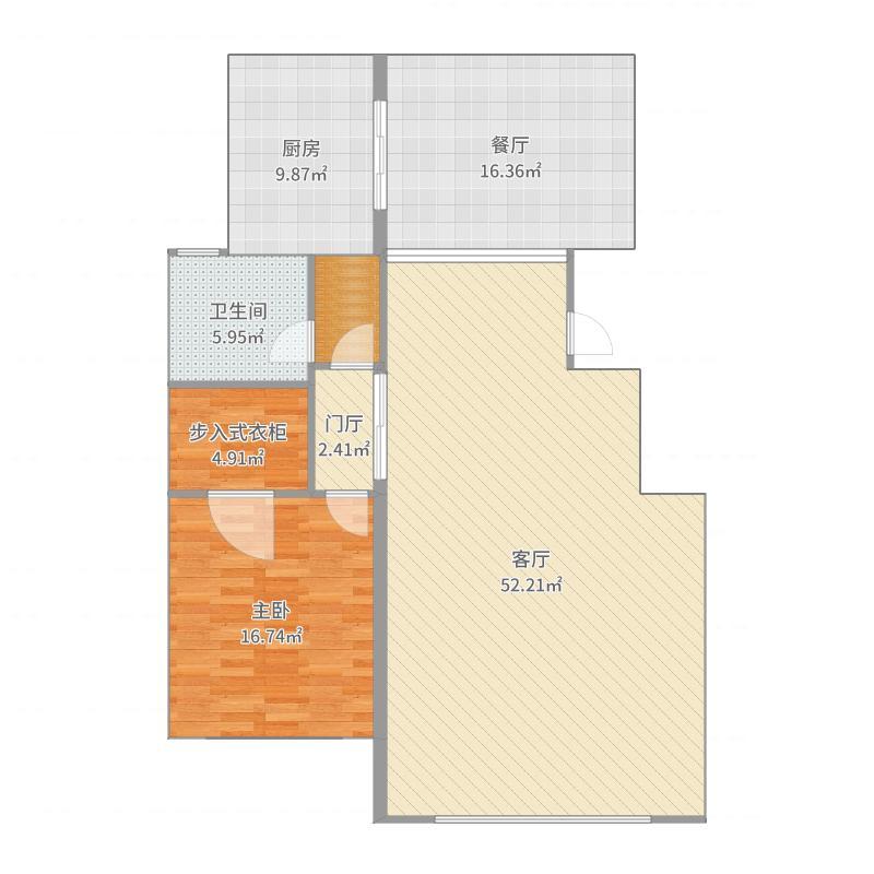 公馆三期顶层复式户型图