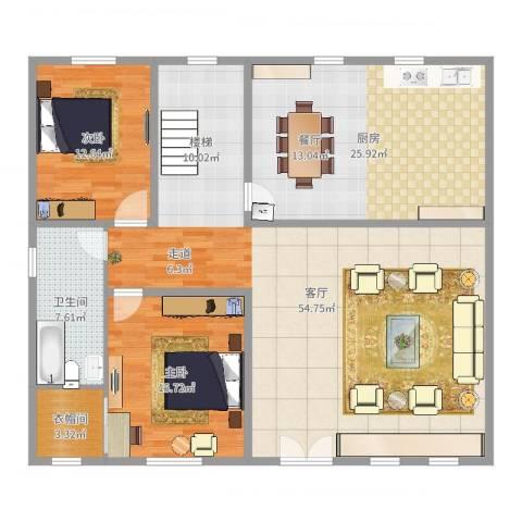 溪山别墅2室1厅1卫1厨150.00㎡户型图