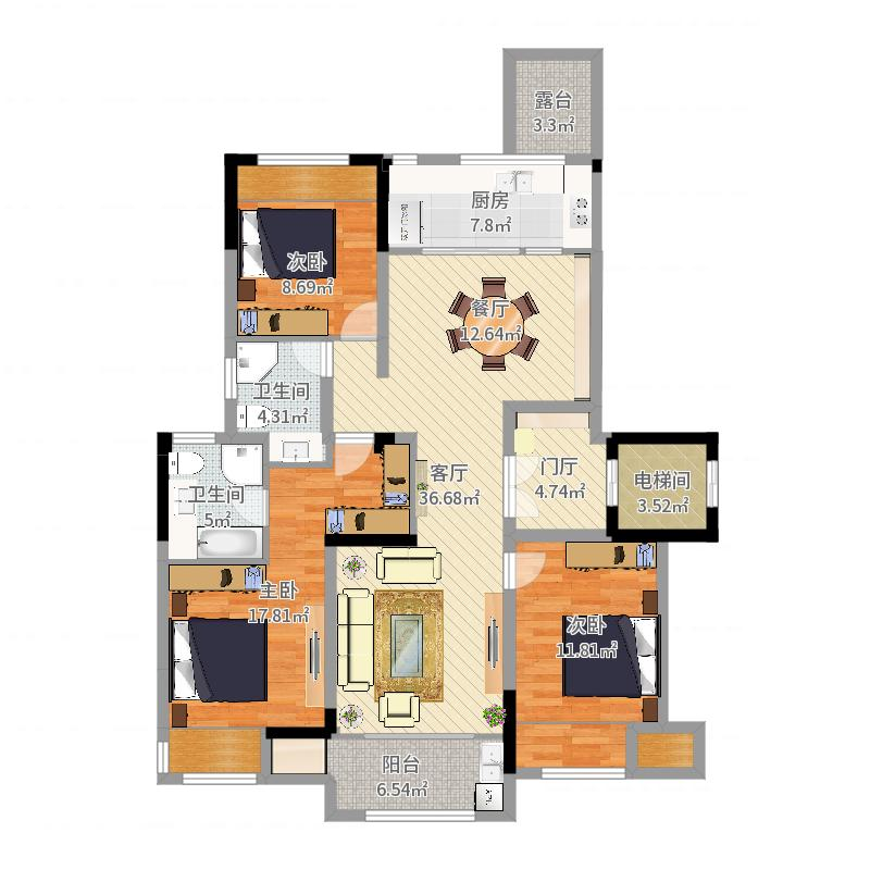 丁山英伦尊邸17幢平面户型图