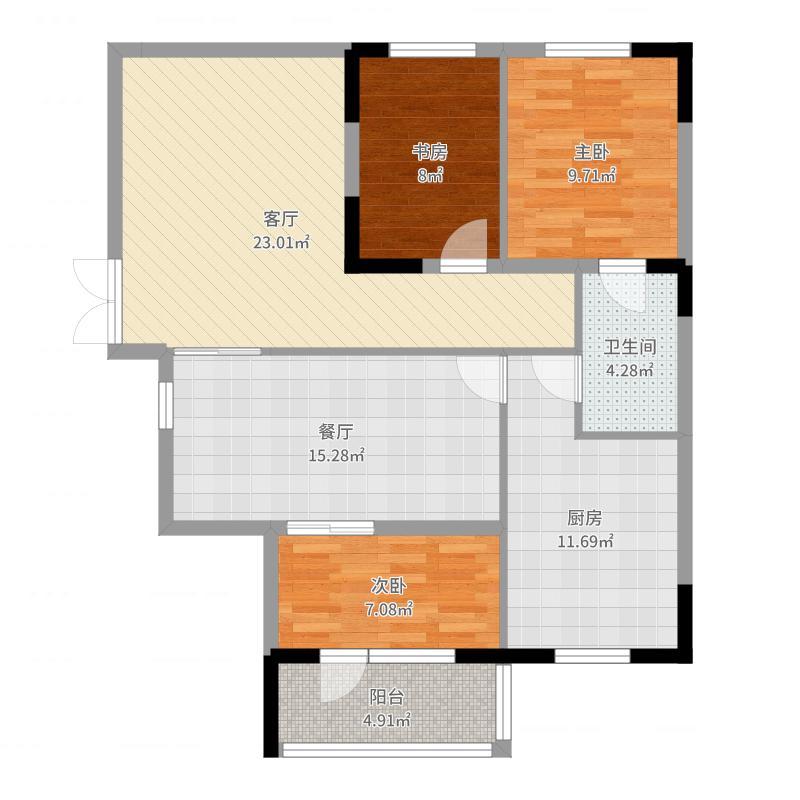 紫光绅苑II期紫光绅苑II期 户型图 E3典精心怡 三室二厅二卫112.40平方米户型3室2厅2卫-户型图