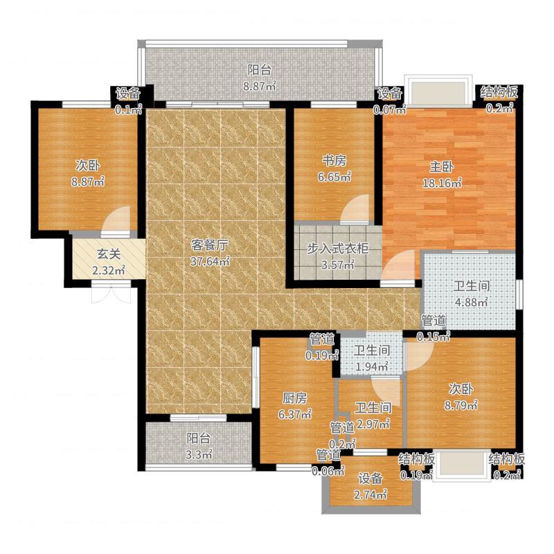 星公元名邸25#504软配户型图