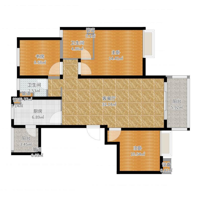 星公元名邸3#403套餐户型图
