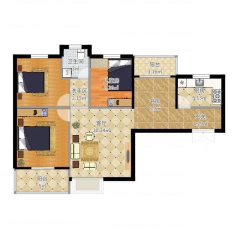 浐灞1号1室1厅1卫1厨99.00㎡户型图