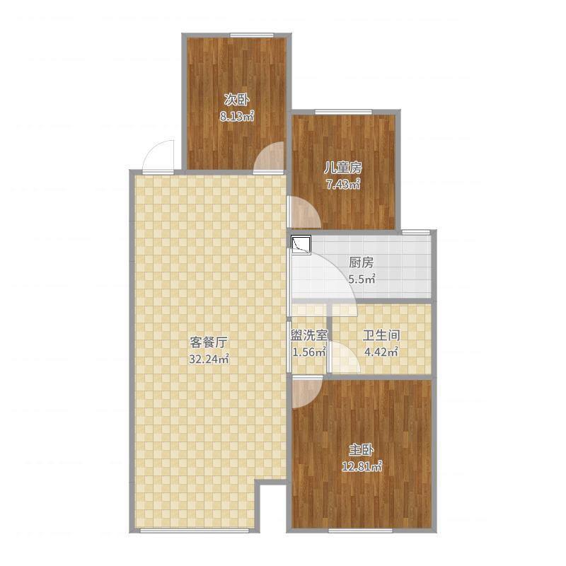 廊坊_廊坊孔雀城・大学里_2017-05-30-1130户型图