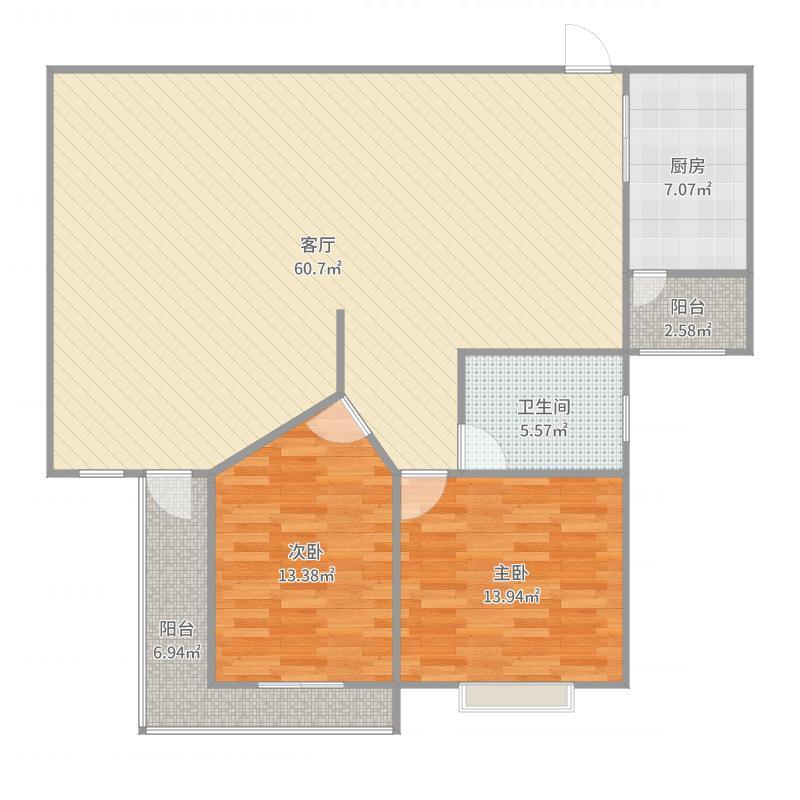 新湖明珠城99弄02室户型图