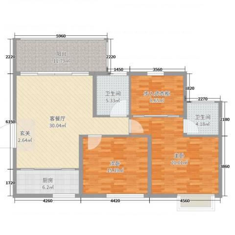 兴科明珠花园三期2室2厅2卫1厨119300.00㎡户型图