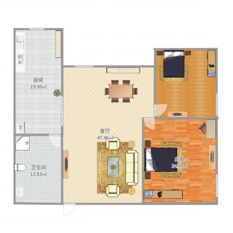 两江嘉苑11-41室1厅1卫1厨153.00㎡户型图