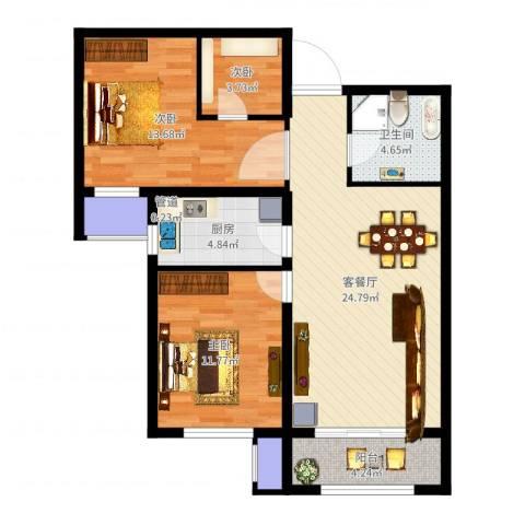 诗景颂苑3室2厅1卫2厨88.00㎡户型图