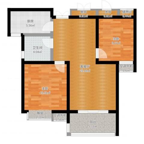 牡丹花园2室2厅1卫1厨83.00㎡户型图