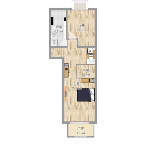 加华印象街3室0厅0卫1厨66.00㎡户型图